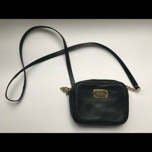 Michael Kors cross body black leather bag